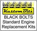 Holden V8 Bolt Kit - Lower Pulley to balance wheel bolts Only [Black Bolts]