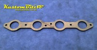 Header Plate Extractor Head Side Flange 10mm - Holden Chevy LS1-2-3 V8 Mild Steel - 1 3/4 inch pipes