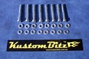 Ford Bolt Kit - suit standard Crossflow Valve covers with 12mm AussieSpeed spacer Silverz