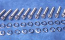 Holden V8 Bolt Kit - Water Pump & Timing Cover bolts only Polished Stainless Hex Socket Caps [KustomBitz]