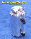Oil Catch Can Polished Alloy 0.75 litre capacity - Round