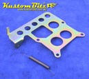 Throttle Accelerator Cable Bracket for Holley 2 barrel carb - pull from front primary bowl side - sits under carb - Zinc Passivate