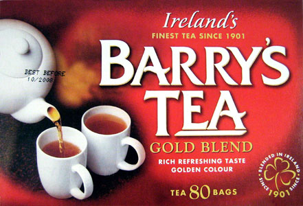 "Barry's Irish Tea,This is the tea we choose to serve in our tea room ""The Tea Cosy"".The Rocks Sydney,"