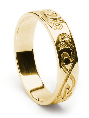 ID209 Swans - Ladies,Representing two celtic swans, entwined together in harmony forever. 10ct gold