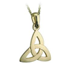 S4247 Trinity Pendant,This beautiful 10ct yellow gold trinity pendant is made in Ireland.
