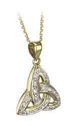 Diamond Trinity Knot Pendant,,The trinity knot symbolises 3 forces moving as a union, together forever.