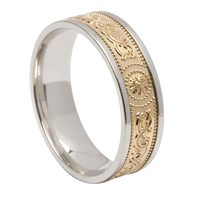 ID105 Warrior Shield - Ladies,This stunning ring incorporates a design that is thousands of years old. 14ct Yellow gold weave, white gold trim.