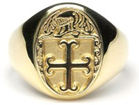 Heraldic Ring - L150,This ladies ring is made to order in your family crest. It is 10ct yellow gold and made in Ireland
