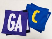 Netball velcro position patches