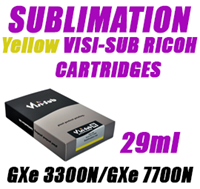 Yellow SUBLIMATION INK - VISI-SUB RICOH CARTRIDGES GXe 3300N/GXe 7700N 29ml