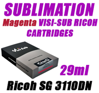 Magenta SUBLIMATION INK - VISI-SUB RICOH CARTRIDGES Ricoh SG 3110DN 29ml