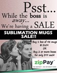 3 Boxes Sublimation Mugs 48 per carton in White Gift Boxes NO Styrofoam