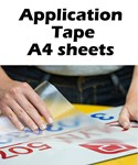 Application Tape for Adhesive Vinyls A4 sheet