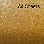 Avery SWF Diamond Glitter Gold Adhesive Vinyl A4 sheets