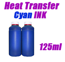 Cyan Heat Transfer Ink 125ml