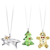 Swarovski Crystal 3 piece Christmas Ornament set