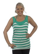 Ninth Moon - WIDE STRIPE HALTER FEEDING TOP