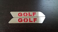 VW MK5/MK6 Stainless Steel Seat Handle Inserts w/ Logo - Golf Logo