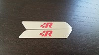 VW MK5/MK6 Stainless Steel Seat Handle Inserts w/ Logo - Classic R Logo