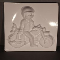 Mould 52418 - Motorcycle with Rider