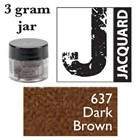 Pearl Ex Mica Powdered Pigments - 3g bottles - DARK BROWN 637