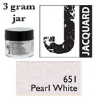 Pearl Ex Mica Powdered Pigments - 3g bottles - PEARL WHITE 651