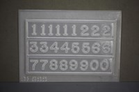 Numbers for Clock Faces Resin Jewellery Mould   RM 1699