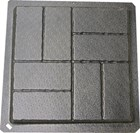 Cross Hatch Brick Paver Mould 400x400x40mm CM 6061