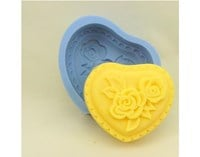 Heart Classic Silicone Soap Mould R0375