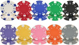 Loose POKER CHIPS Dice Pattern Clay 11.5g (Your Choice of 10 Colours)