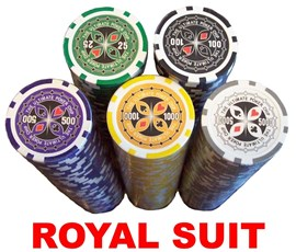 500 Chip POKER SET, Royal Suit 14g Clay Chips in Aluminium Case (OUT OF STOCK)