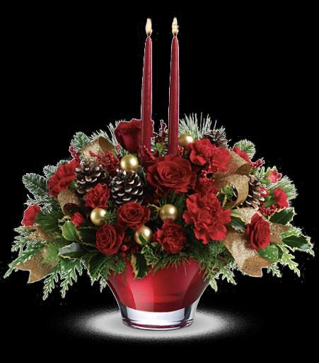 T a holiday flair centerpiece cainsbridalwreath