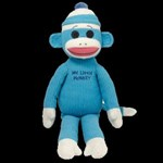 TY Beanie Buddy -Sock Monkey (Blue)