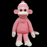 TY Beanie Buddy -Sock Monkey (Pink)