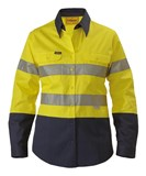 Bisley Women's Taped Hi Vis Drill Shirt