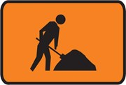 Workmen Ahead Picto Sign 900x600mm Class 1 Reflective