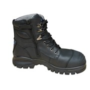 Blundstone 997 Black Lace-up Zip  Sided Safety Boot