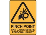 Sign Pinch Point Can Cause Severe Personal Injury