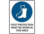 Sign Foot Protection Must Be Worn In This Area - Mandatory Sign