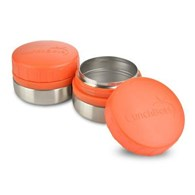 LunchBots Rounds Stainless Steel Leak Proof Containers Set of Two 120mL