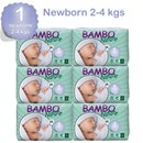 Bambo Nature Disposable Nappies - Newborn - Size 1 - Carton of 168 - RRP $95.95 Our Price $91.95
