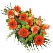 Seasonal Orange Flower Sheath, From $70