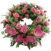 Wreath With Pink Tones, From $100