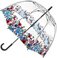 Fulton Birdcage -2 Clear Dome Shaped Umbrella Wild Flowers