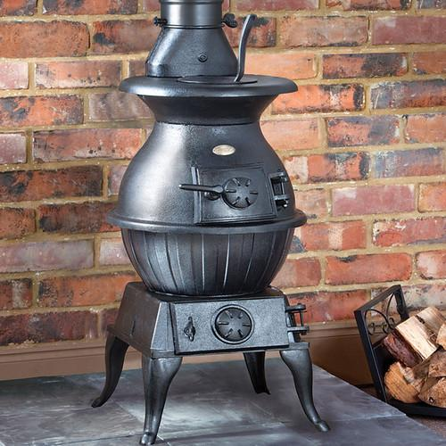 Clarke Potbelly Extra Large Cast Iron Woodburning Stove Storage Heaters Electric Heaters