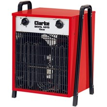 Clarke Devil 6015 15Kw 415 volt portable industrial fan heater