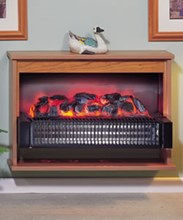 Dimplex Optima 314CHE radiant electric fire suite -