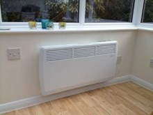 Ambient Air 2kw thermostatic convector panel heater with timer