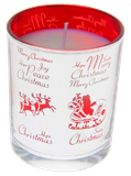 Christmas Candles - Silver & Red