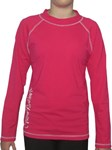 POP PINK LONG SLEEVE SWIM SHIRT - SIZE 4